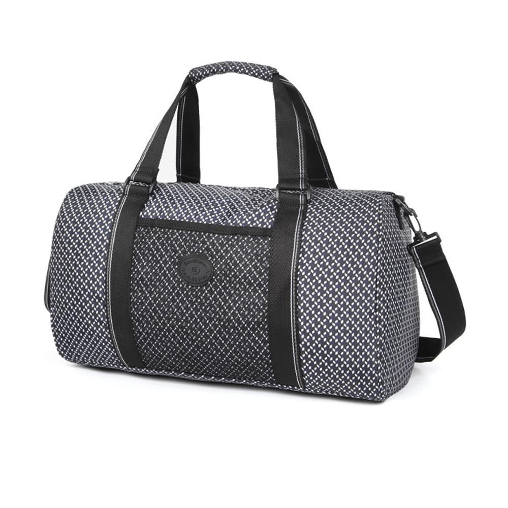 네이비사각아이 캐주얼 무늬 패턴 보스턴 여행 가방 보스턴백 여행용보스턴 보스턴가방 보스턴 트레블