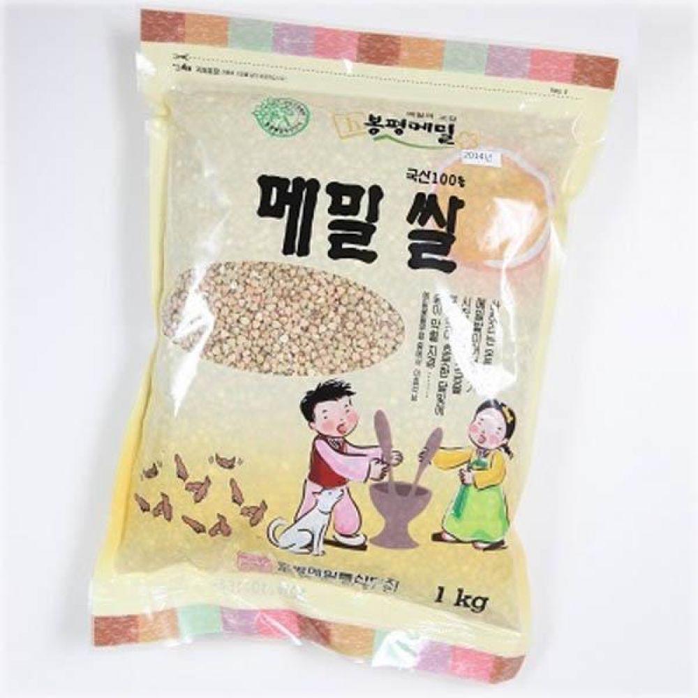 (식자재 박스판매)봉평 메밀쌀 1kg x 10개 메일 국수 가루 묵 건강