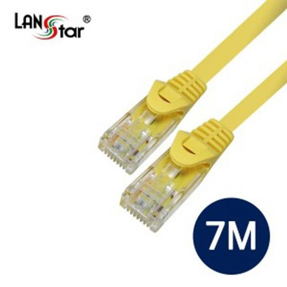UTP 랜케이블 CAT.5E DIRECT 7M-Yellow 컴퓨터용품 PC용품 컴퓨터악세사리 컴퓨터주변용품 네트워크용품 랜선 인터넷케이블 기가랜선 utp케이블 공유기 hdmi케이블 랜커플러 lan케이블 랜커넥터 평면랜케이블
