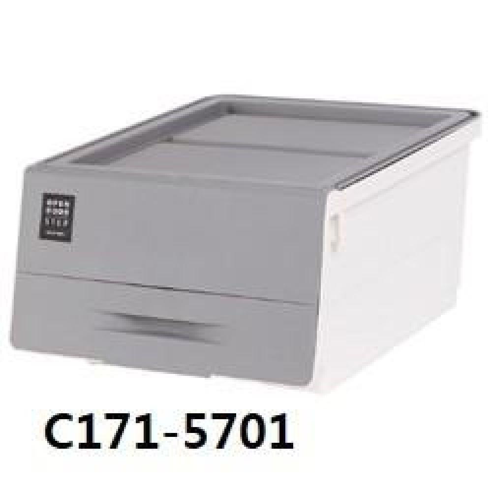 창신 오픈도어스텝박스그레이(중) C171-5701 생활용품 수납용품 수납 청소 박스