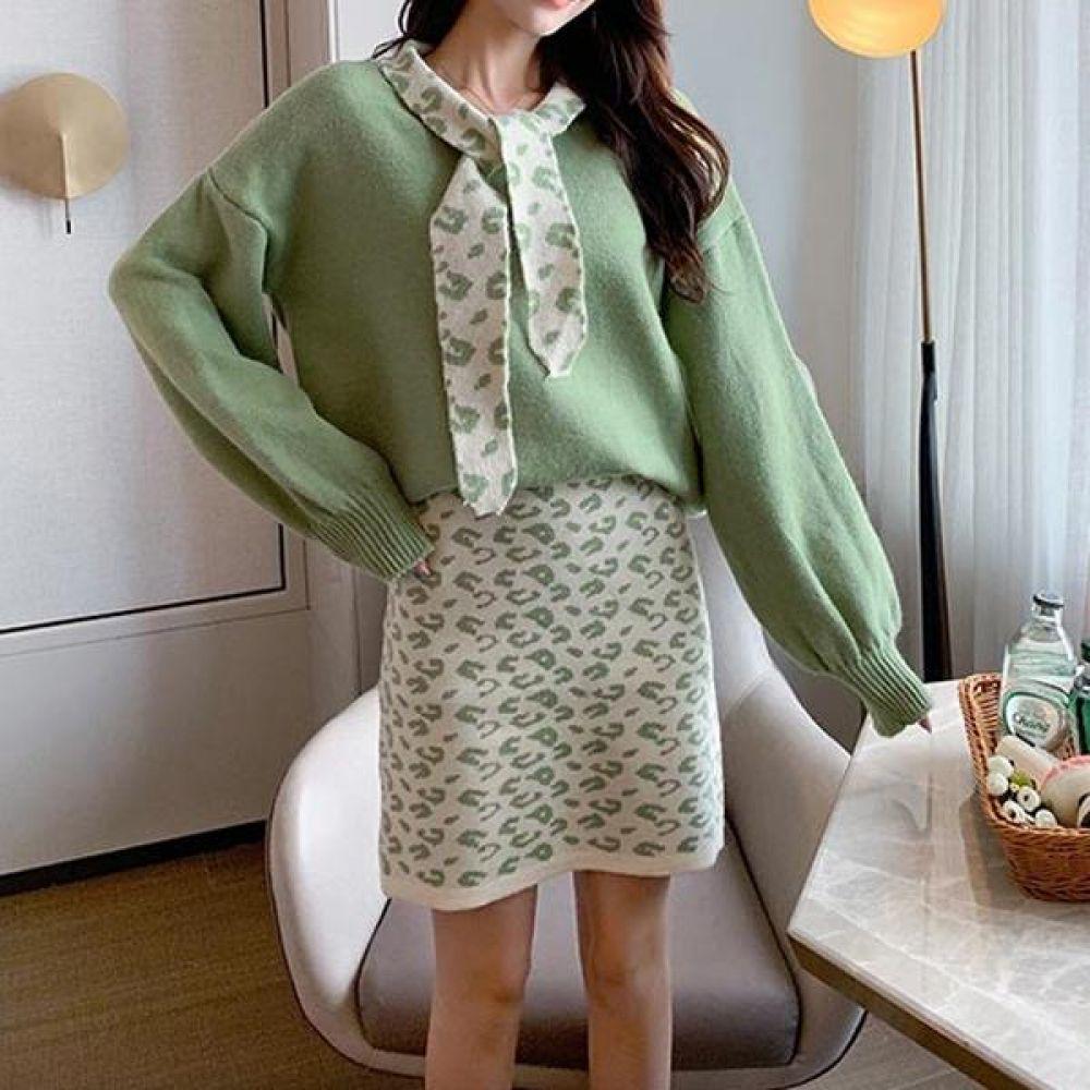 포근한 니트 투피스 세트(3Color) 여성 겨울옷 니트투피스 트피스세트 코디세트 투피스정장 오피스룩 데일리룩 가을투피스 투피스
