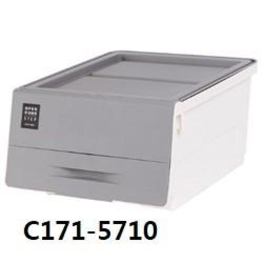 창신 오픈도어스텝박스그레이(대) C171-5710 생활용품 수납용품 수납 청소 박스