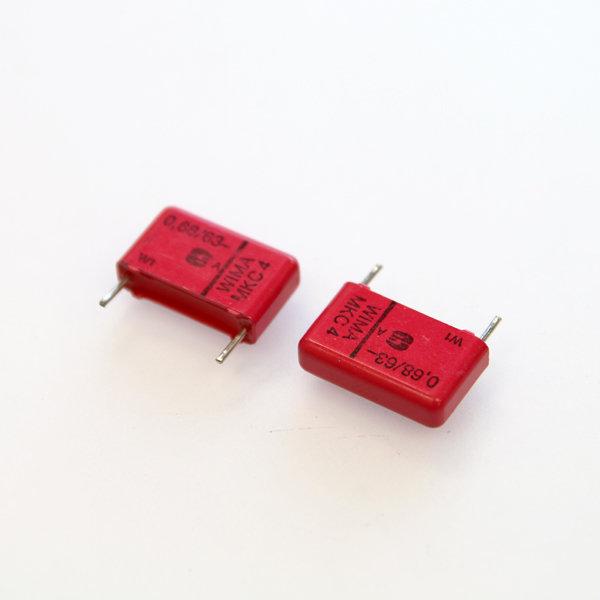 위마 콘덴서 캐패시터 Wima 63V 0.68uF  / MKS4 2개 콘덴서 오디오 캐패시티 audio 위마 WIMA 독일