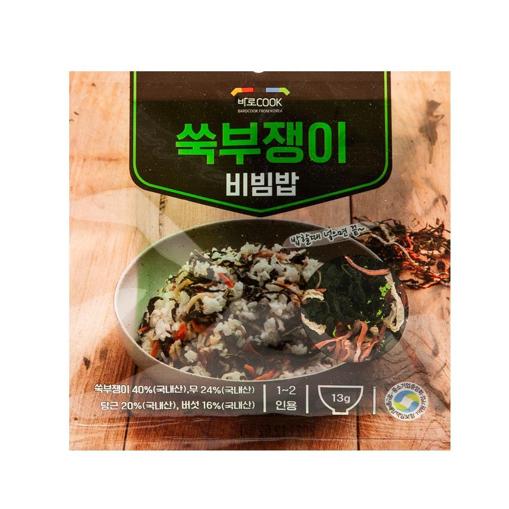 쑥부쟁이 비빔밥 13g(1-2인용) 나물 건강 식품 밥 야채