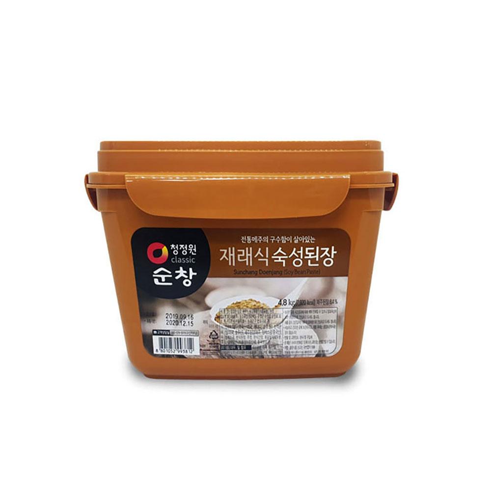 청정원 순창 재래식된장 4.8kg 대용량 찌개 국 양념 된장 순창 쌈장 고추장 청정원