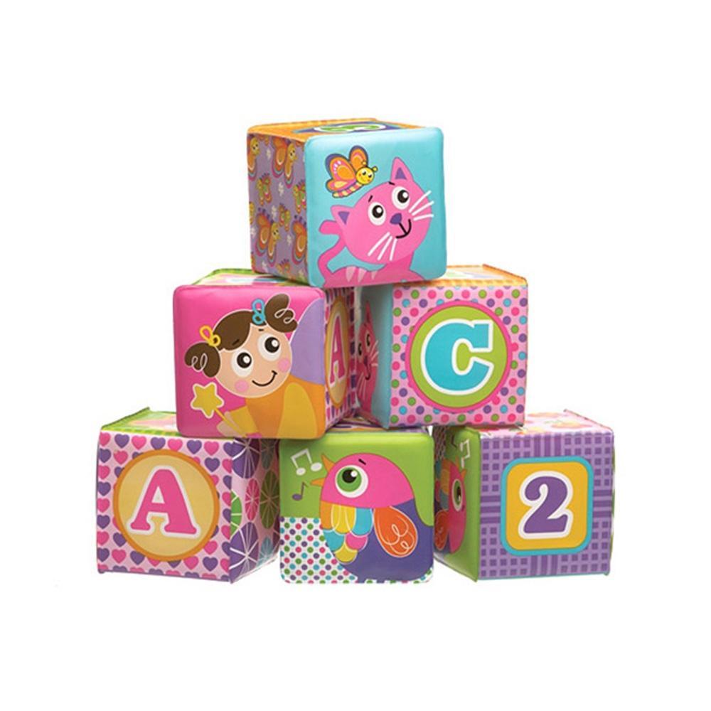 선물 아이 장난감 123 목욕놀이 소프트블럭 6P 조카 유아원 장난감 2살장난감 3살장난감 4살장난감