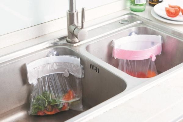 MWSHOP 싱크대 음식물쓰레기통 음식물보관통 위생팩홀더 엠더블유샵