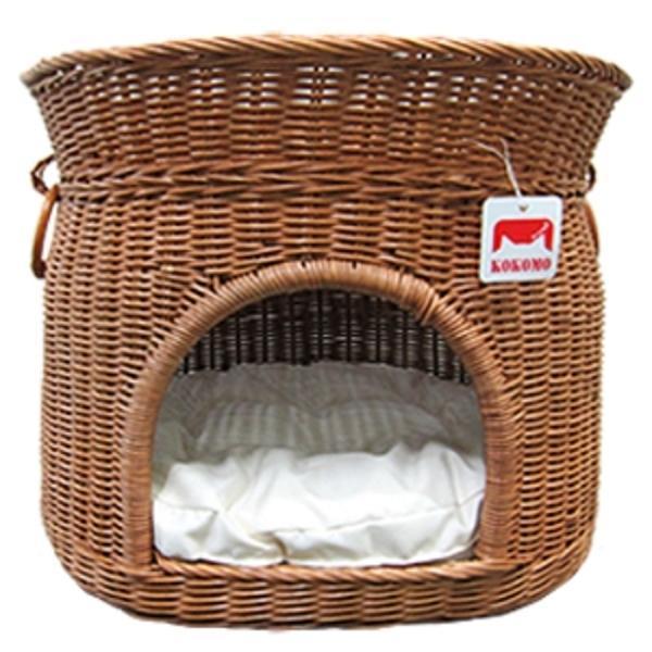 라탄하우스_코코 (내추럴) 애견용품 고양이하우스 고양이방석 고양이용품 고양이쿠션 애견집 애견하우스 동굴하우스 애묘하우스 터널하우스 애묘쿠션