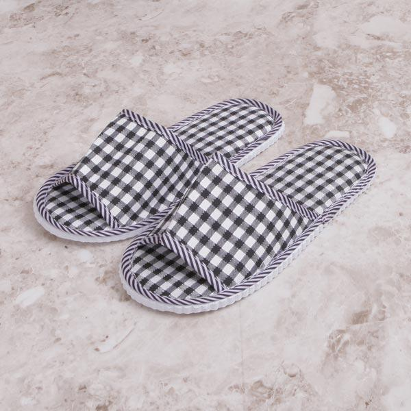 ABM(C)체크거실화 블랙 거실실내화 여름거실화 욕실화 실내슬리퍼 사무실신발