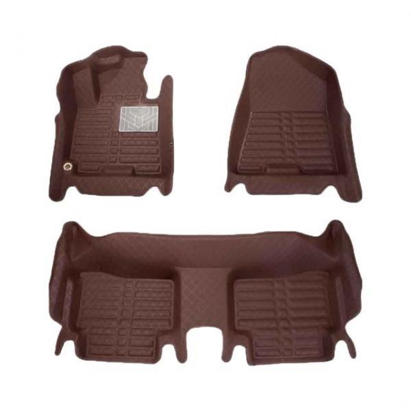 포르쉐 카이엔(2002-2010) 국내산 프리미엄 체크무늬 카매트 브라운 자동차매트 자동차깔판 차량매트 자동차발매트 5d