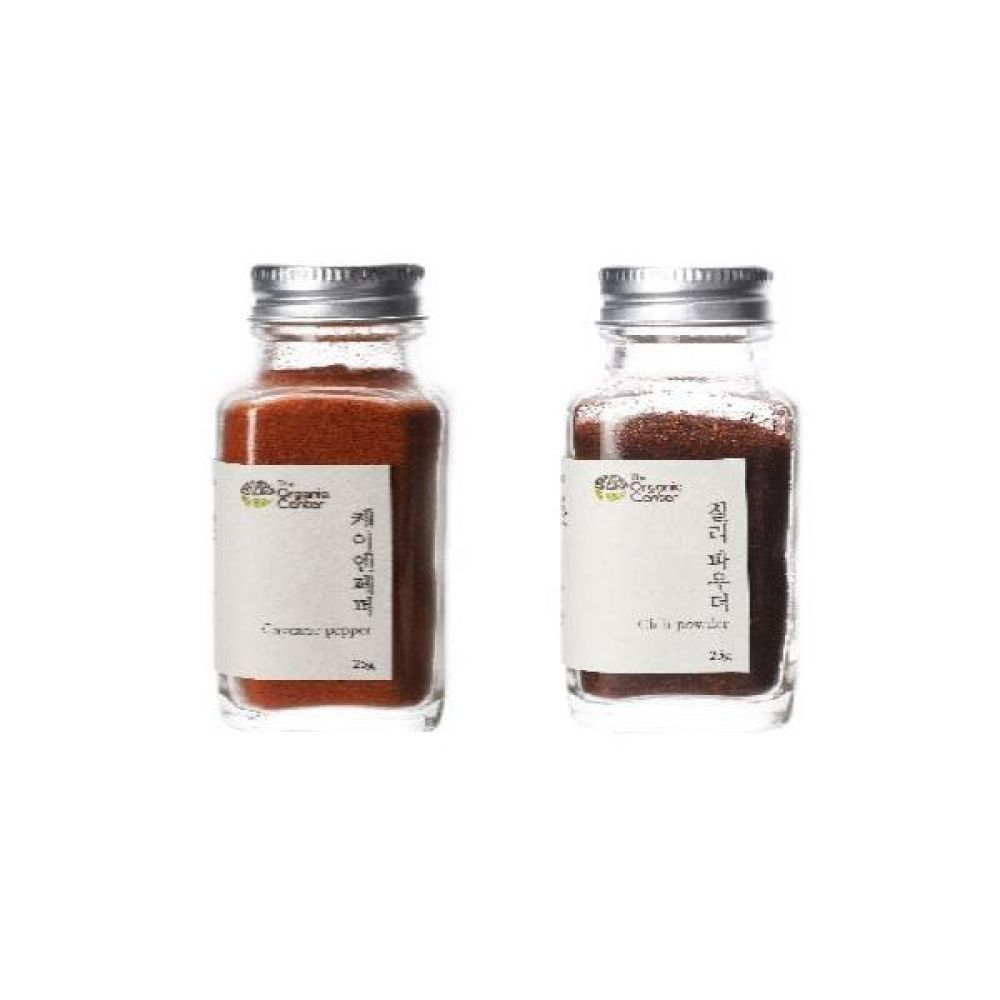 (오가닉 향신료 모음)케이엔페퍼 25g과 칠리파우더 25g 건강 견과 조미료 냄새 고기