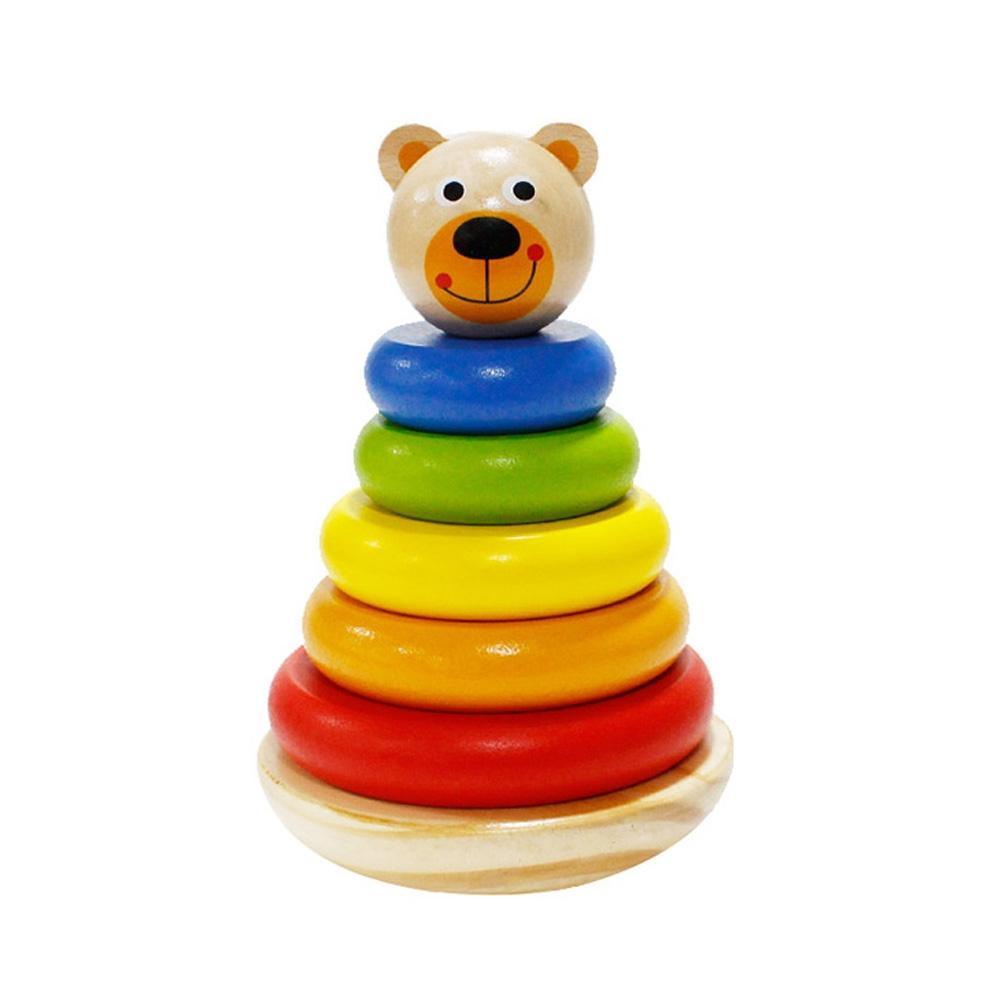 장난감 유아 학습 아동 놀이 곰돌이 링쌓기 아이 퍼즐 블록 블럭 장난감 유아블럭