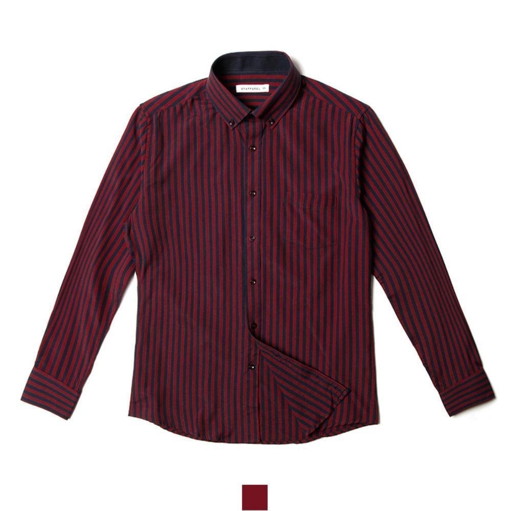 버건디 스트라이프 남자셔츠 남자와이셔츠 와이셔츠 남자셔츠 옥스포드셔츠 남성셔츠 남자정장셔츠 남자남방 빅사이즈셔츠 화이트셔츠 남자스트라이프셔츠 블랙셔츠 슬림핏셔츠 무지셔츠 심플셔츠 남자체크셔츠