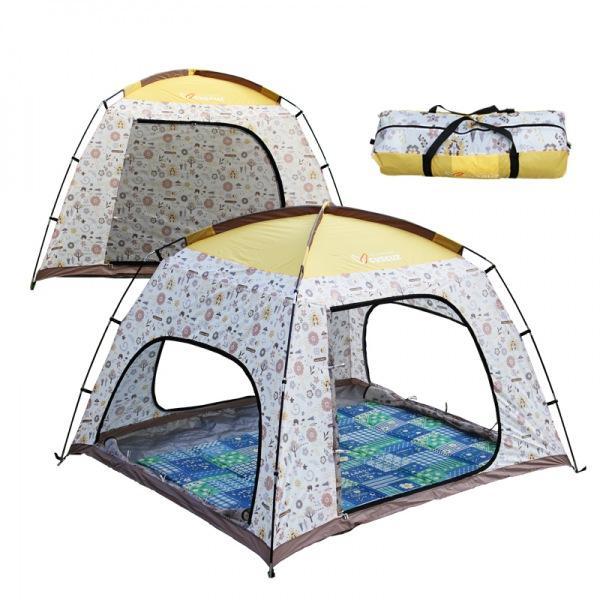 커스커즈 패턴썬블럭 텐트