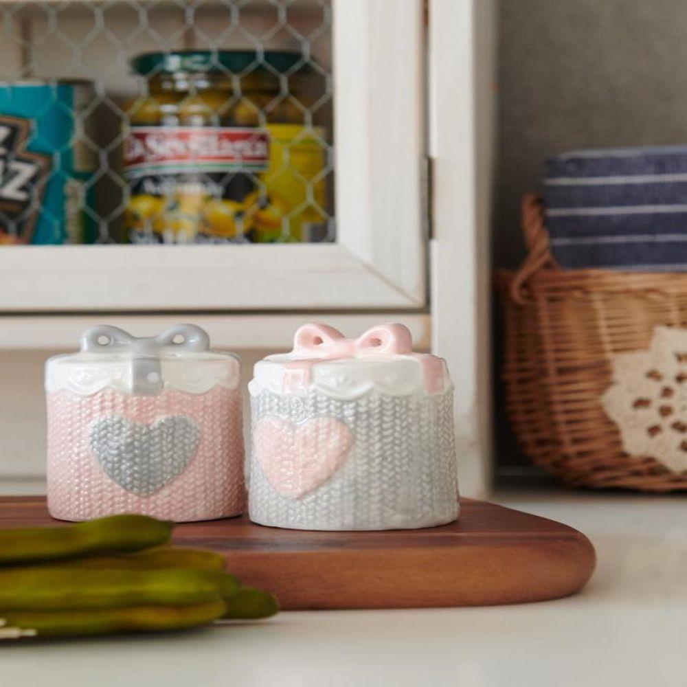 하트 도자기 양념통2P 주방용품 주방소품 장식소품 생활용품 도자기소품
