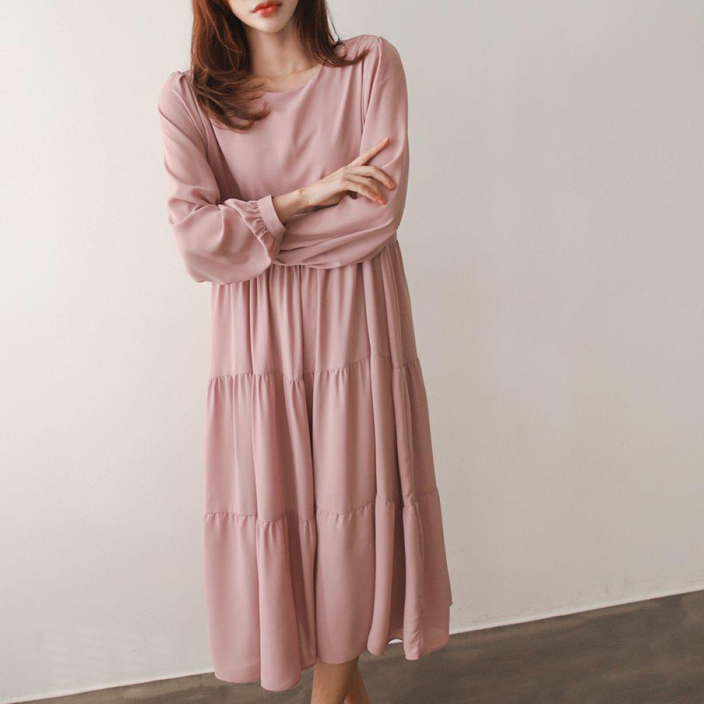 쉬폰 캉캉원피스 1048231 DRESS 쉬폰 레이스원피스 아이보리 Ivory 핑크 Pink 캐주얼