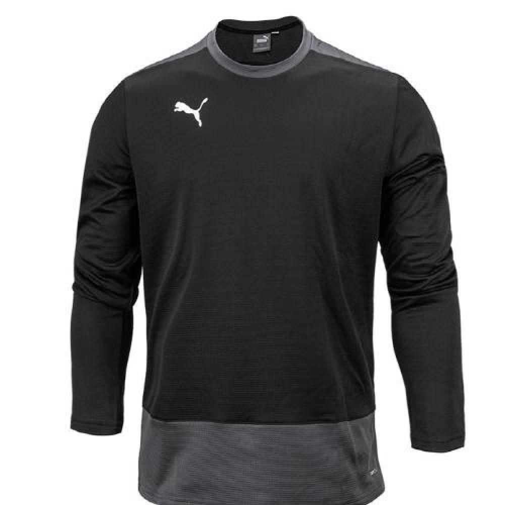 푸마 팀골23 트레이닝 스웨트 긴팔티셔츠 블랙 푸마티셔츠 트레이닝티셔츠 스포츠티셔츠 운동티셔츠 반집엎티셔츠
