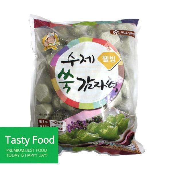 (냉동)명가에프씨 웰빙쑥감자떡2kgX10개 분식 명가에프씨 감자떡 식자재 식품