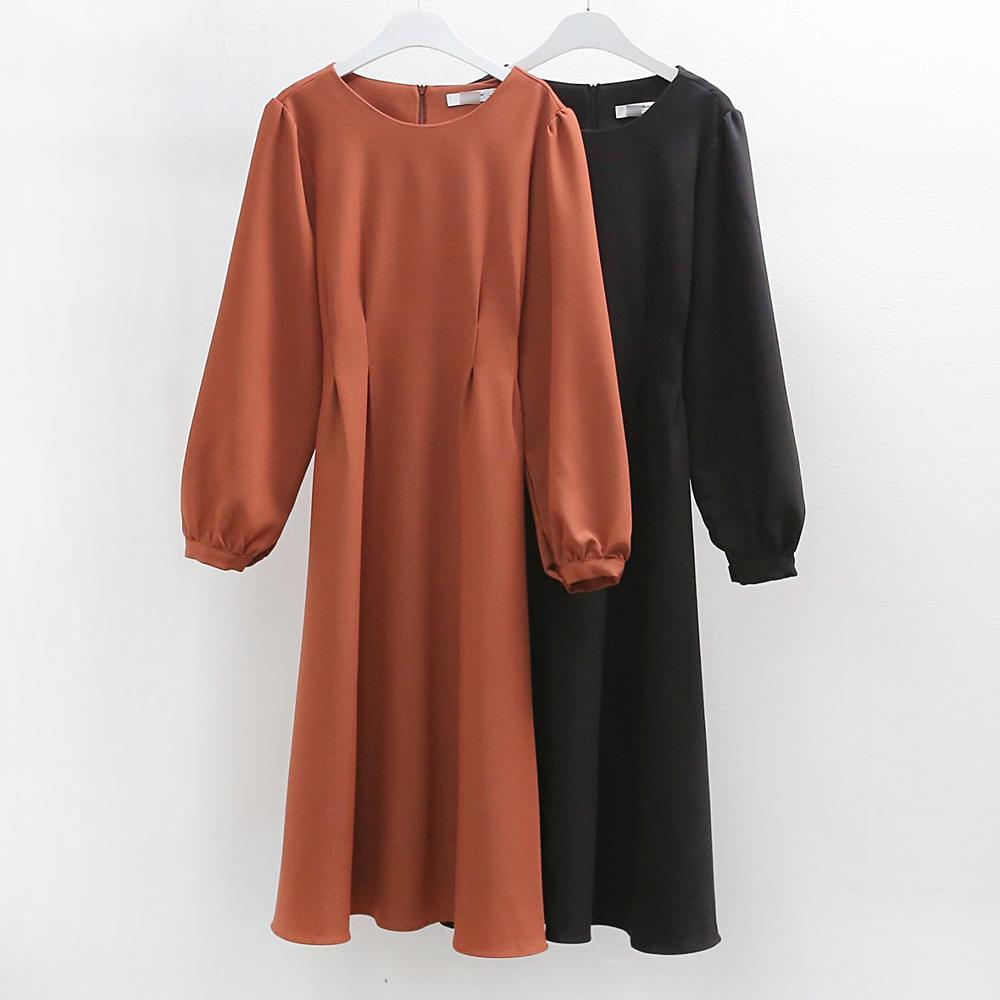 미시옷 6675L909 슬림 핀턱 롱 원피스 WB 빅사이즈 여성의류 빅사이즈 여성의류 미시옷 임부복 에이라인핀턱원피스