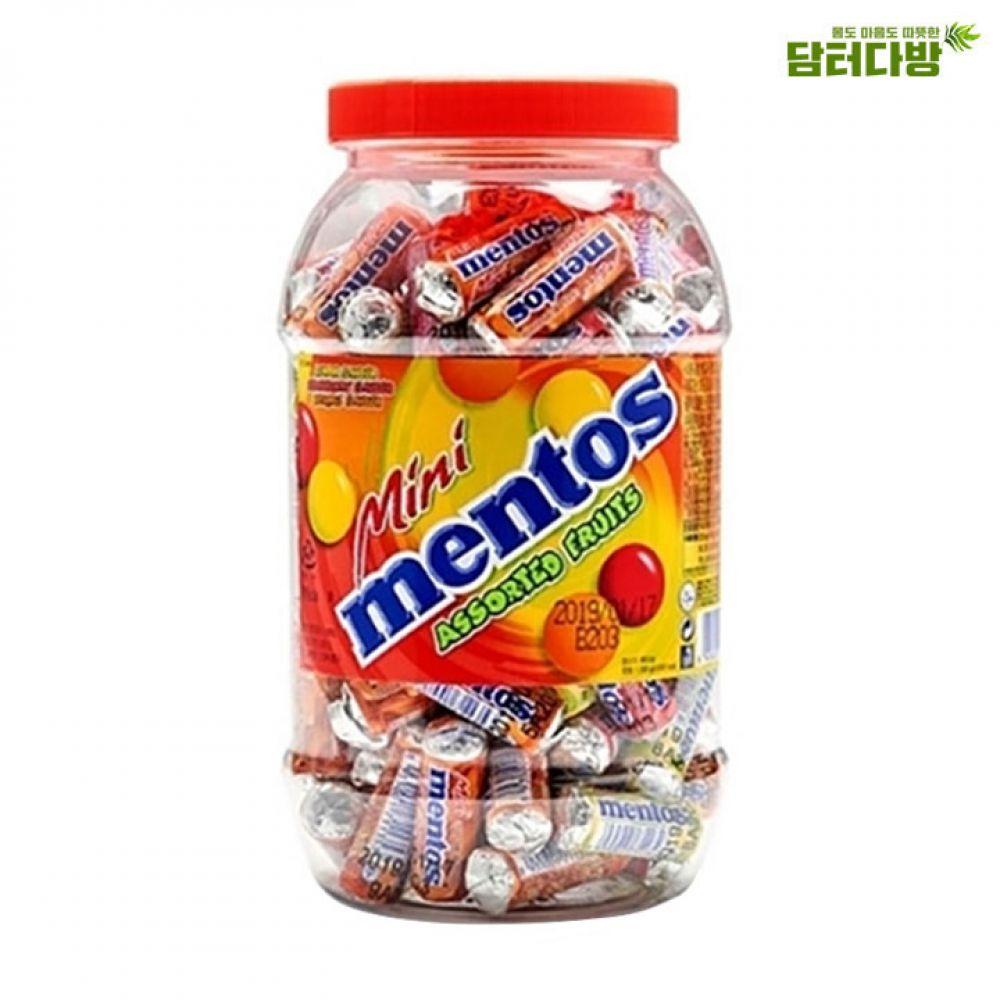 미니멘토스 푸르티 100개입 - 3가지의 맛 미니멘토스 대용량 멘토스사탕 자꾸만손이가는 아이들간식용 선물용으로도좋은 맛있는사탕 아이들이좋아하는 누구나좋아하는