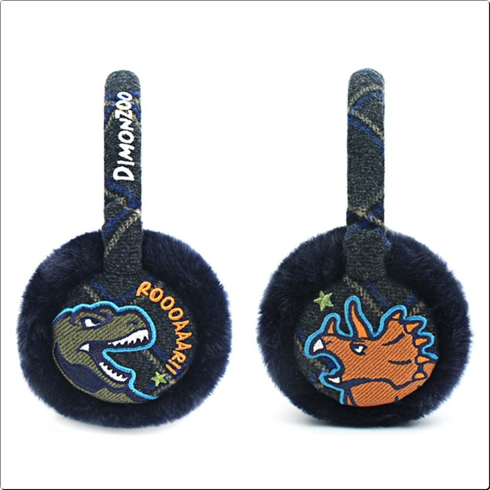 다이몬쥬 체크 귀마개 (겨울/방한)(공룡)(749873) 캐릭터 캐릭터상품 생활잡화 잡화 유아용품