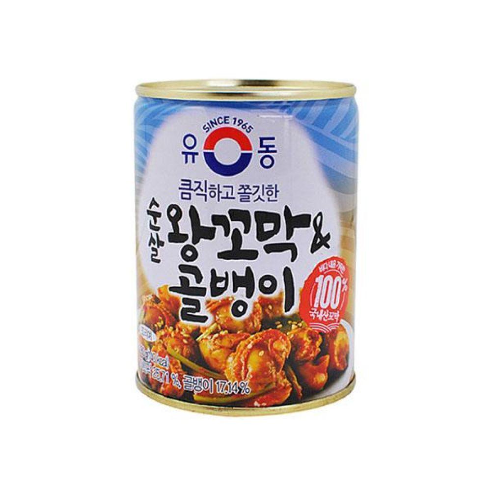 유동)순살 왕꼬막과 골뱅이 280g x 6개 통조림 반찬 식재료 도매 박스단위