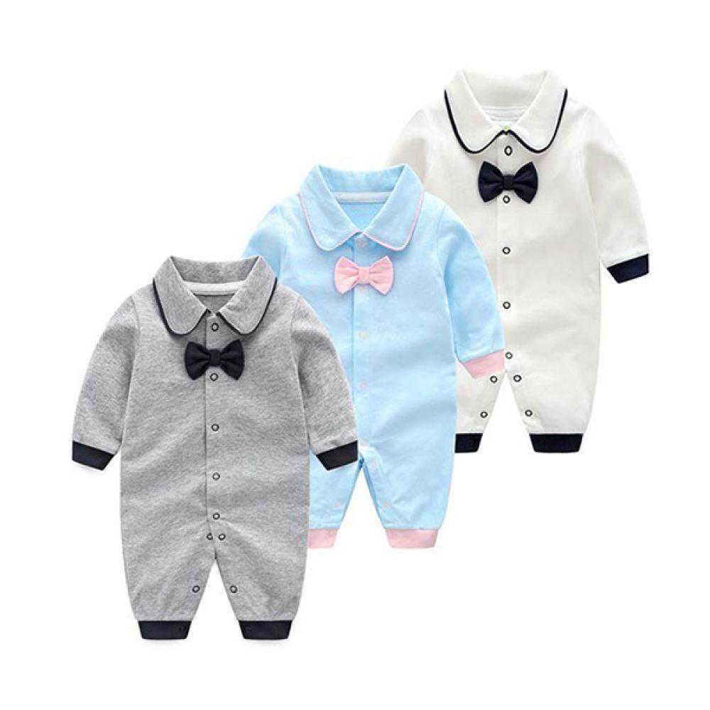 깔끔한 리본 우주복(0-12개월) 203613 아기우주복 유아우주복 신생아옷 신생아우주복 아기옷 유아옷 아기외출복 유아외출복 신생아외출복 우주복
