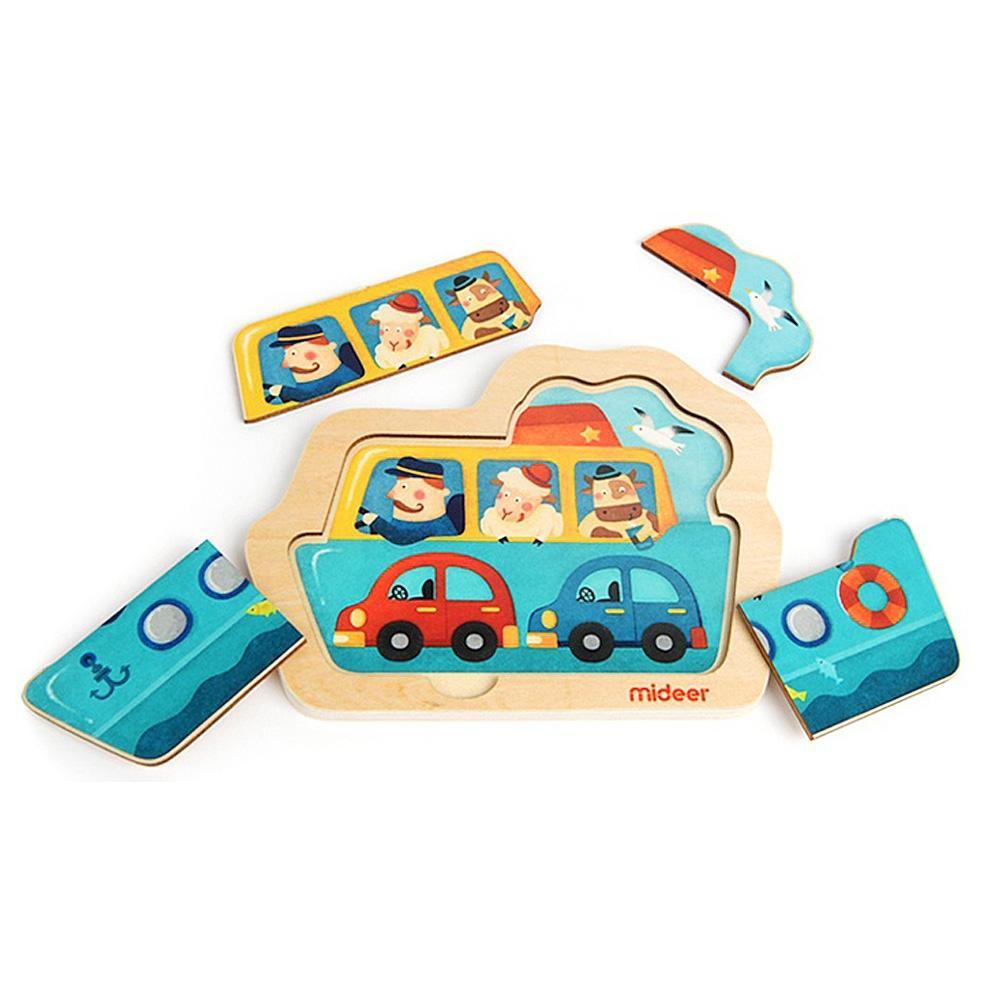 선물 2살 2세 유아 미니 퍼즐 배 4P 어린이 학습 교구 퍼즐 어린이교구 창의교구 아동퍼즐 창작놀이