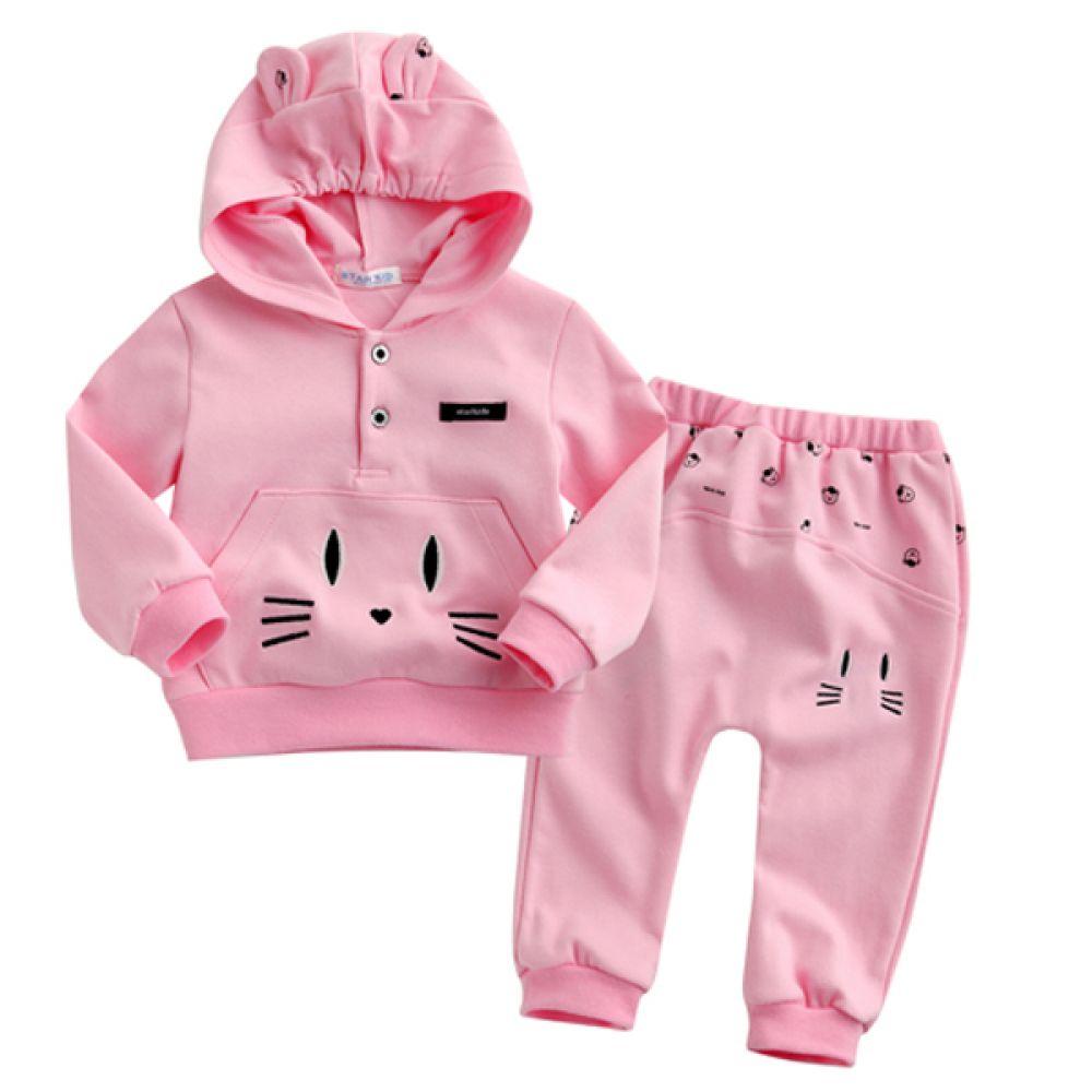 한국생산 고양이 수염 상하복 핑크(3-24개월) 202520 상하복 백일옷 아기옷 유아옷 신생아옷 돌복 세트 베이비의류 외출복 티셔츠 바지 조이멀티 엠케이