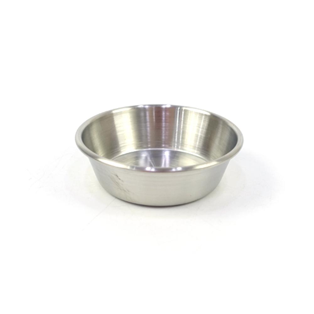 진주 종지 3호접시 식기 종지 마늘종지 소스그릇 종지그릇 간장그릇 스텐그릇 스텐종지 스텐종지 접시 식기 종지 마늘종지 소스그릇