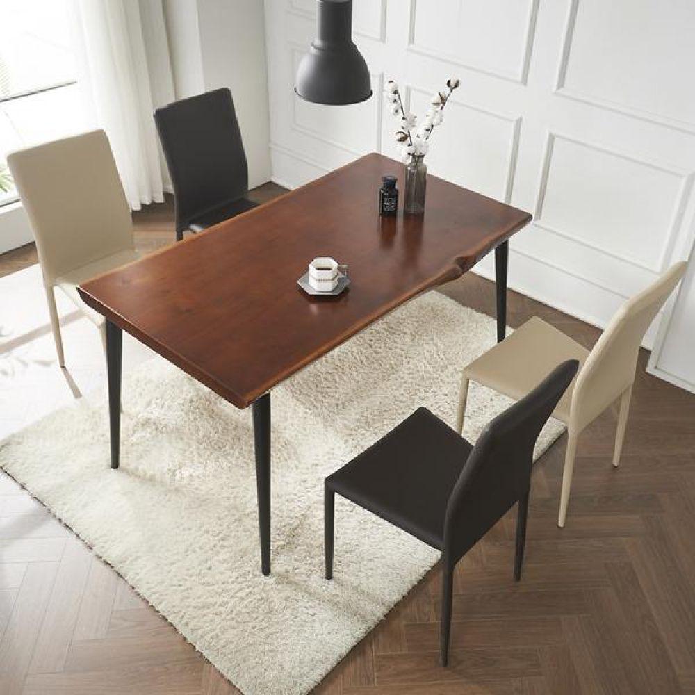 심플라인 통 원목 클래식 테이블 세트 1400 테이블 다용도상 거실테이블 티이블 미니테이블