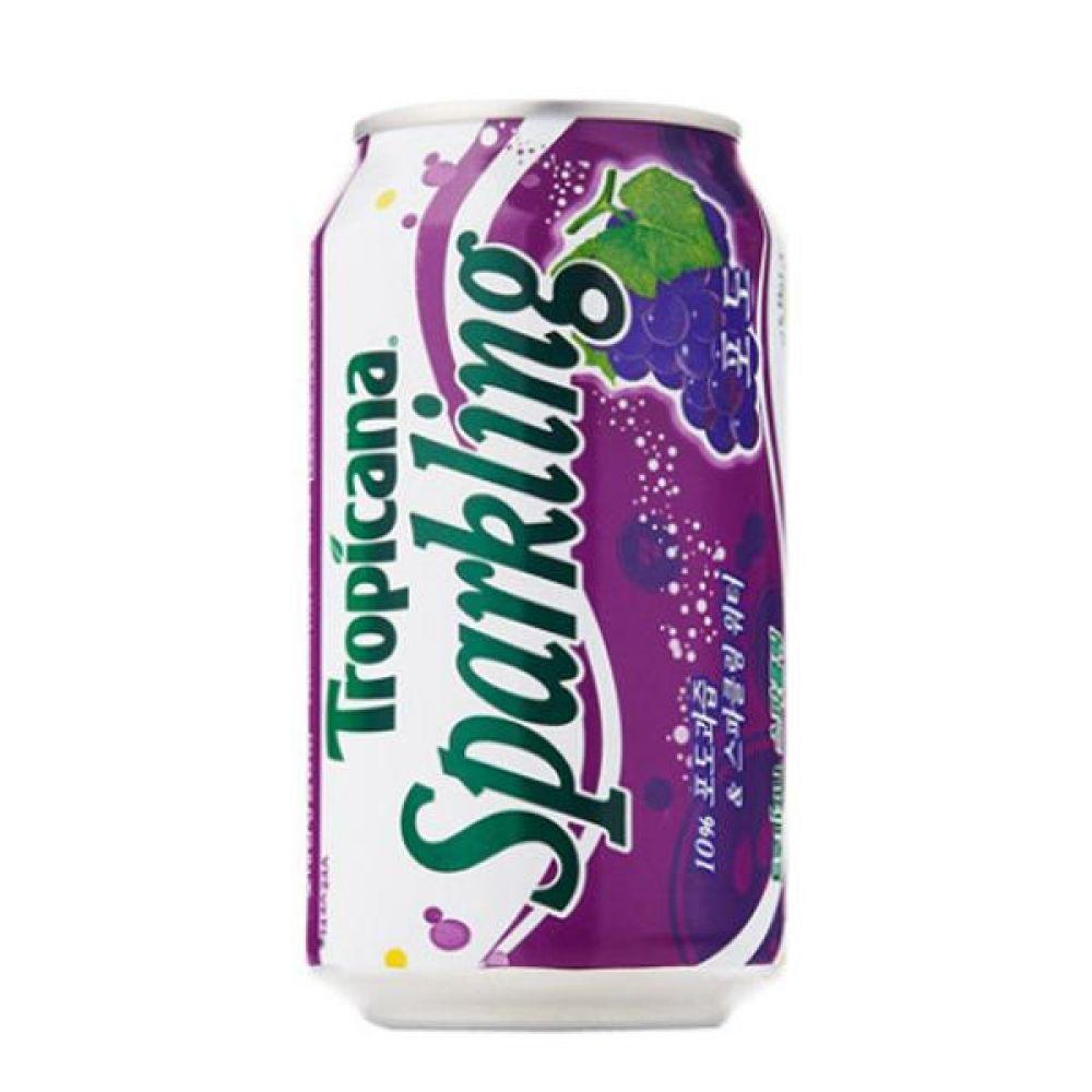칠성)트로피카나 스파클링 포도 355ml x 24캔 믿을 수 있는 정품 정량 음료 음료수 음료수도매 스파클링 탄산음료