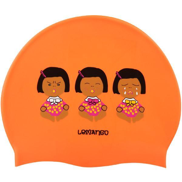 Monnani-Pearl Orange르망고 실리콘수모 수영모자 수영용품 수영모 수중운동용품 디자인수영모