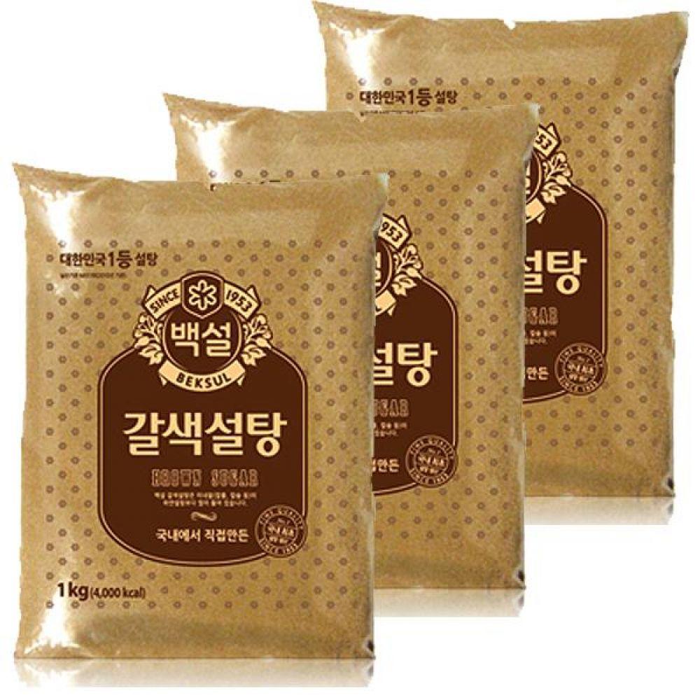 CJ)갈색 설탕 1kg x 5개 건강 단맛 커피 차 양념