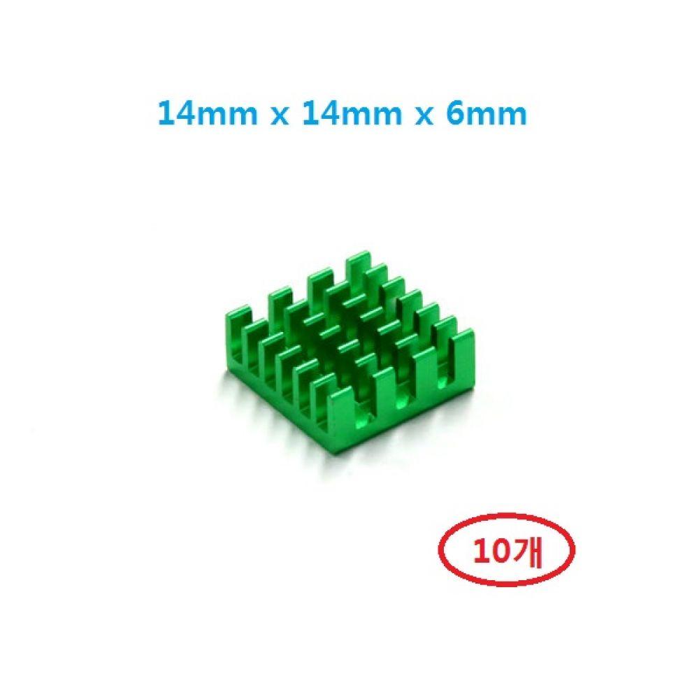 소형 칼라 알루미늄 쿨러 방열판 히트싱크 141406G 10개 히트싱크 방열판 칼라방열판 다용도 칼라히트싱크 알루미늄방열판 히트싱크 쿨러