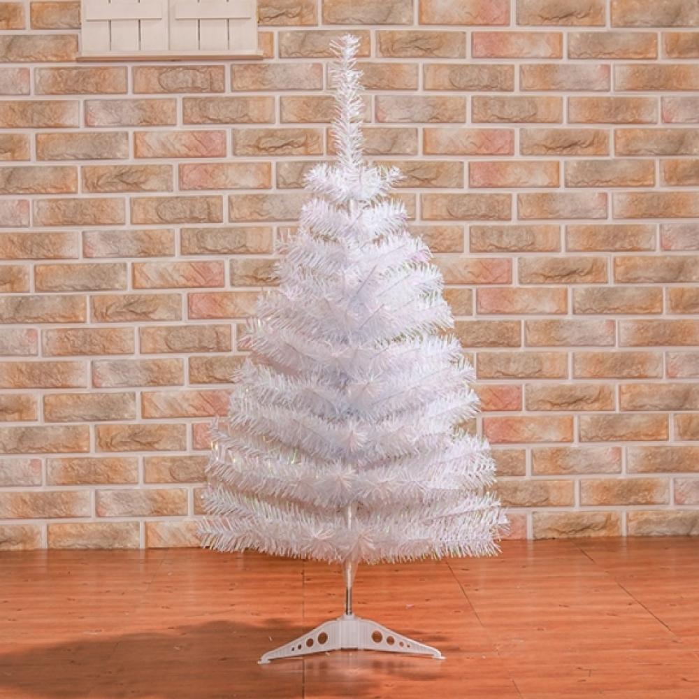 MWSHOP 90cm 화이트 홀로그램 트리 일반트리 크리스마스 엠더블유샵