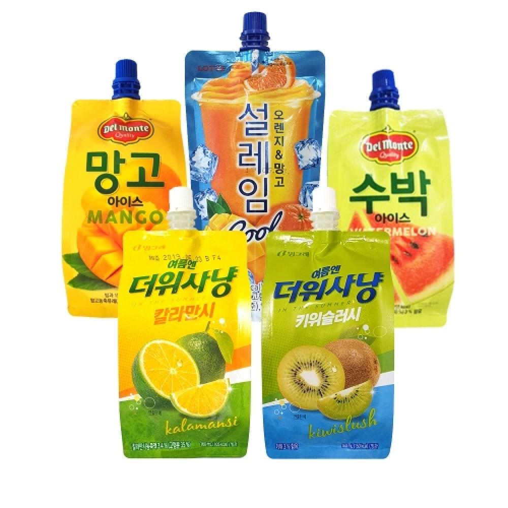 빙그레 롯데 세트 달콤상콤 파우치 30개입 하드 간식아이스크림 맛있는아이스크림 빙과류 간식용하드