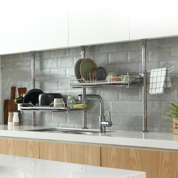 몽동닷컴 로얄 싱크선반 600E 주방선반 식기선반 식기건조대 씽크대선반 식기건조