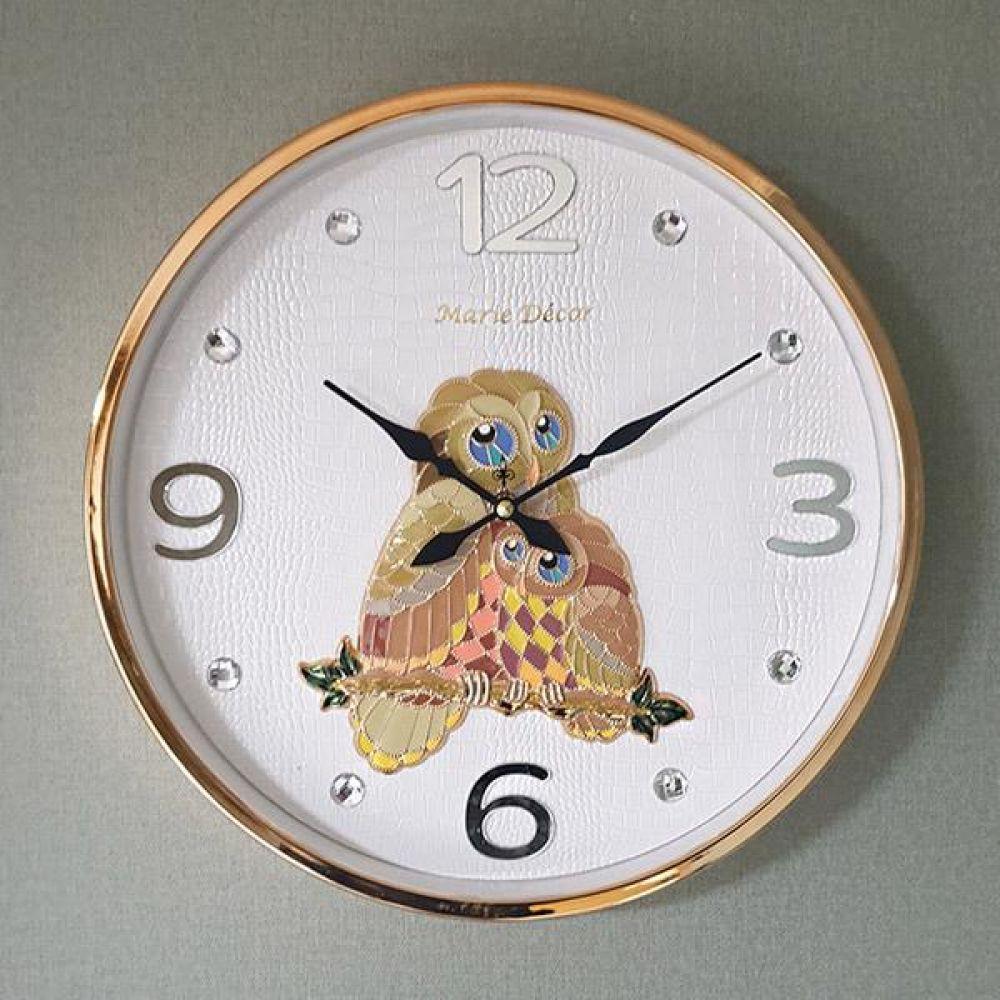컬러블록 부엉이 심플벽시계 (골드) 벽시계 벽걸이시계 인테리어벽시계 예쁜벽시계 인테리어소품