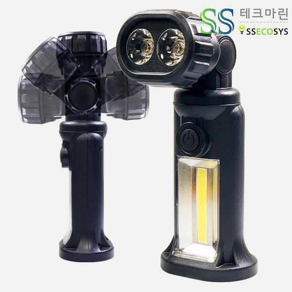 몽동닷컴 SS테크마린 LED ET 후레쉬(랜턴)-AAA건전지 4개 포함 작업등 서치라이트 써치라이트 후래쉬 후레시 후래시 손전등 렌턴