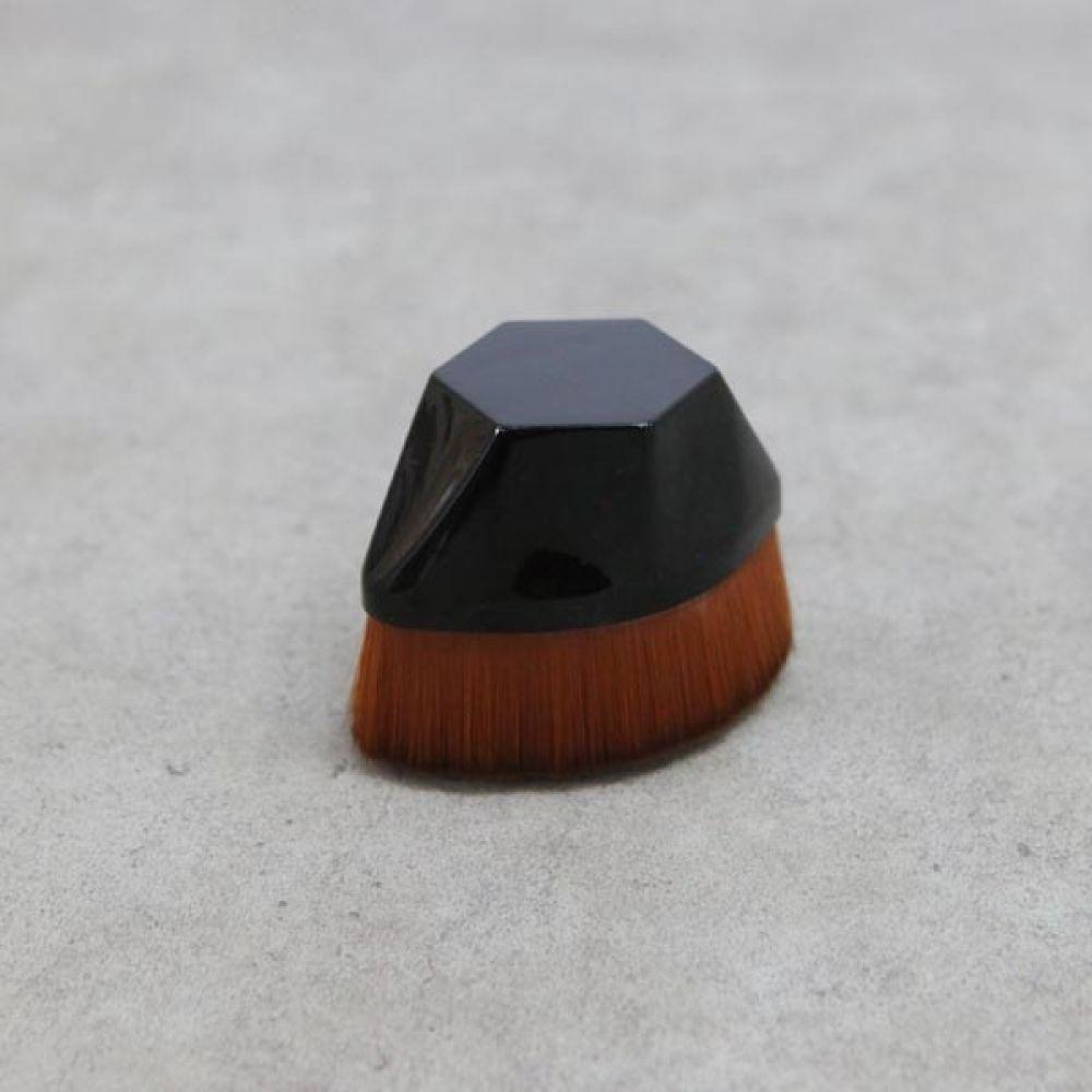 꽃잎 파운데이션 브러쉬 블랙 화장용품 미용세트 미용세트 화장용품 이쁜브러쉬 화장브러쉬 파우치