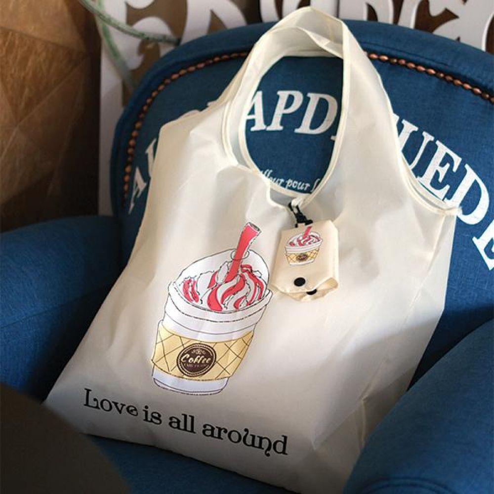 커피 폴딩 에코백 시리즈  장바구니  가방 에코백 보냉백 토드백 장바구니 시장가방
