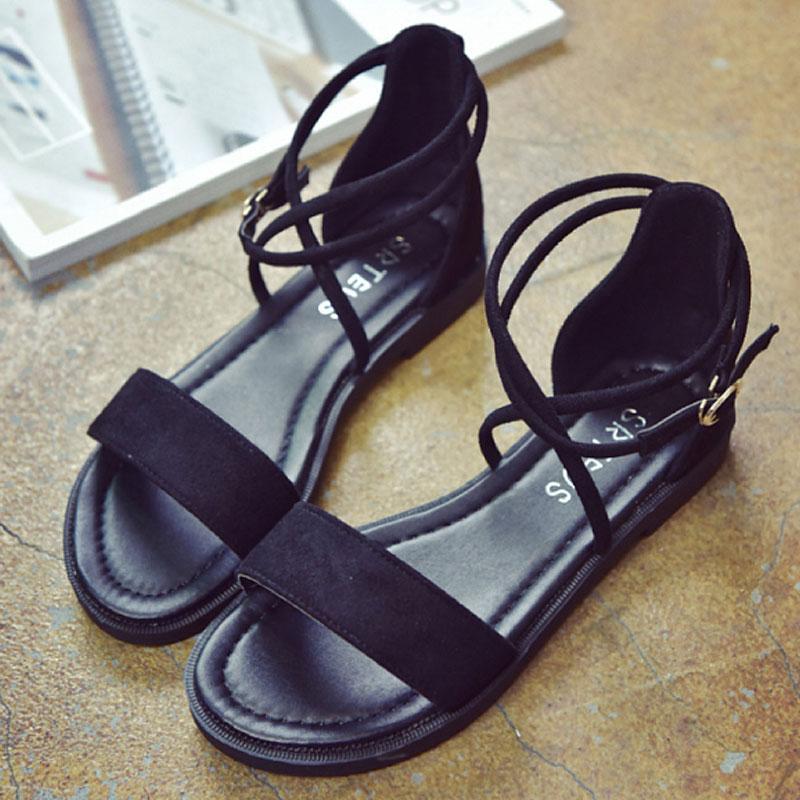 여성 스트랩 글레디에이터 샌들 블랙 wd05261 여자신발 여성신발 패션화 패션신발 샌들