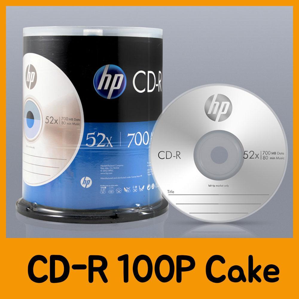 HP CD-R 100P Cake CD 공CD 씨디 공씨디 저장용품 컴퓨터저장용품 저장