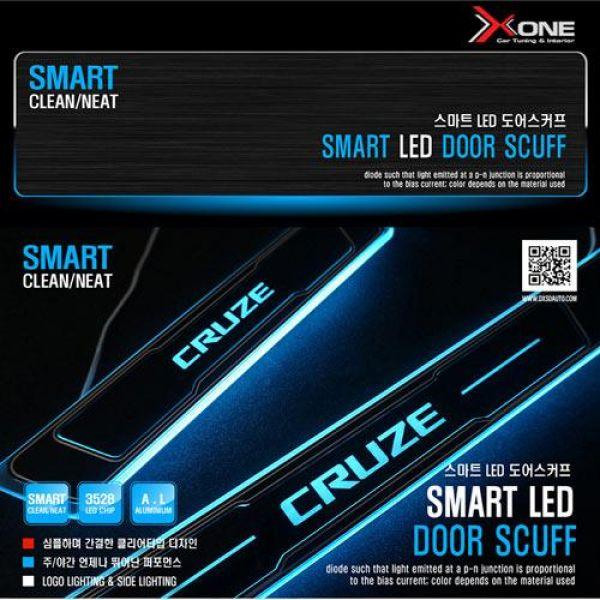 스마트 LED도어스커프 크루즈 자동차용품 LED자동차용품 자동차인테리어 자동차실내용품 자동차도어스커프