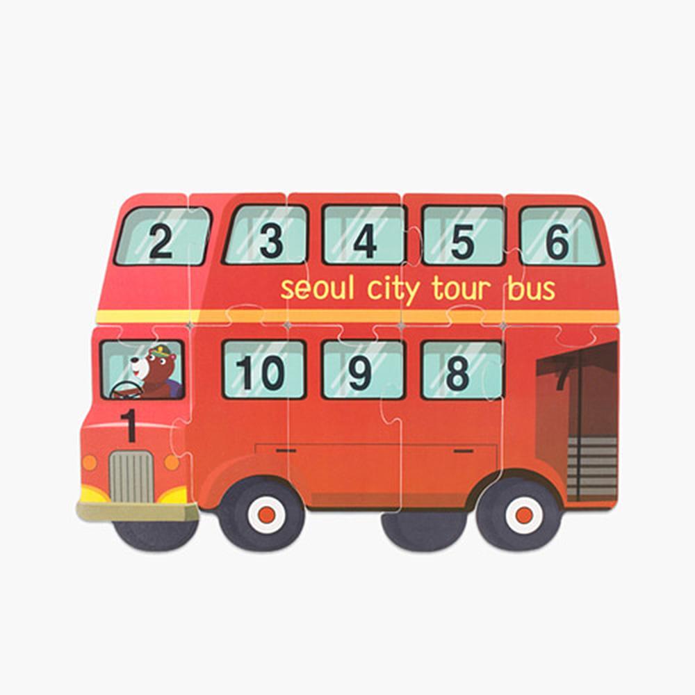 선물 유아 어린이 놀이 교구 숫자퍼즐 투어버스 조카 완구 어린이집 유아원 초등학교 장난감