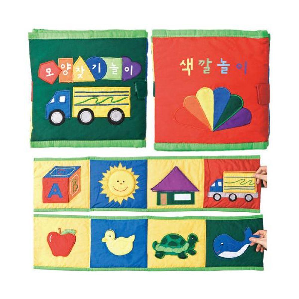 매직교구 헝겊책 색깔 모양 찾기 놀이 완구 문구 장난감 어린이 캐릭터 학습 교구 교보재 인형 선물