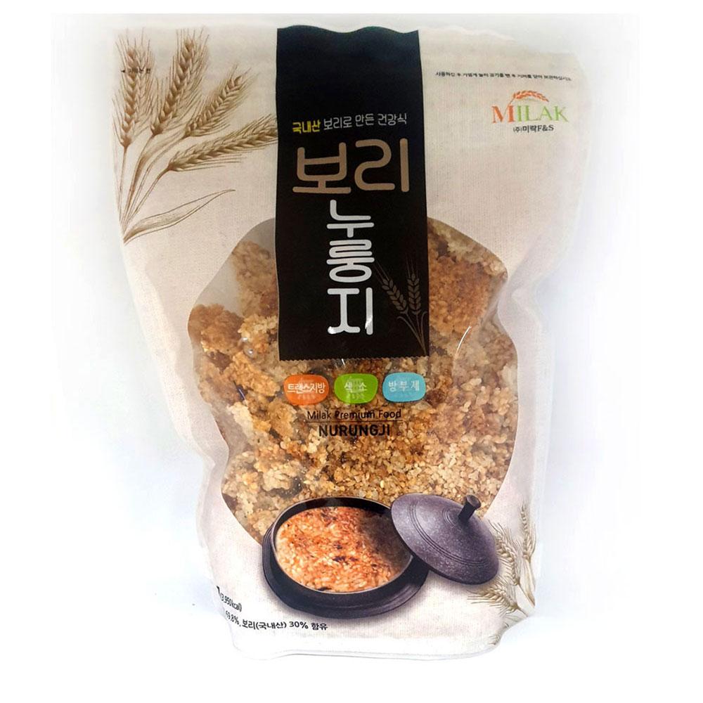 미락 보리누룽지 1kg 간식 아침식사 숭늉 간편식 누룽지 미음 아침대용 숭늉 누룽지과자