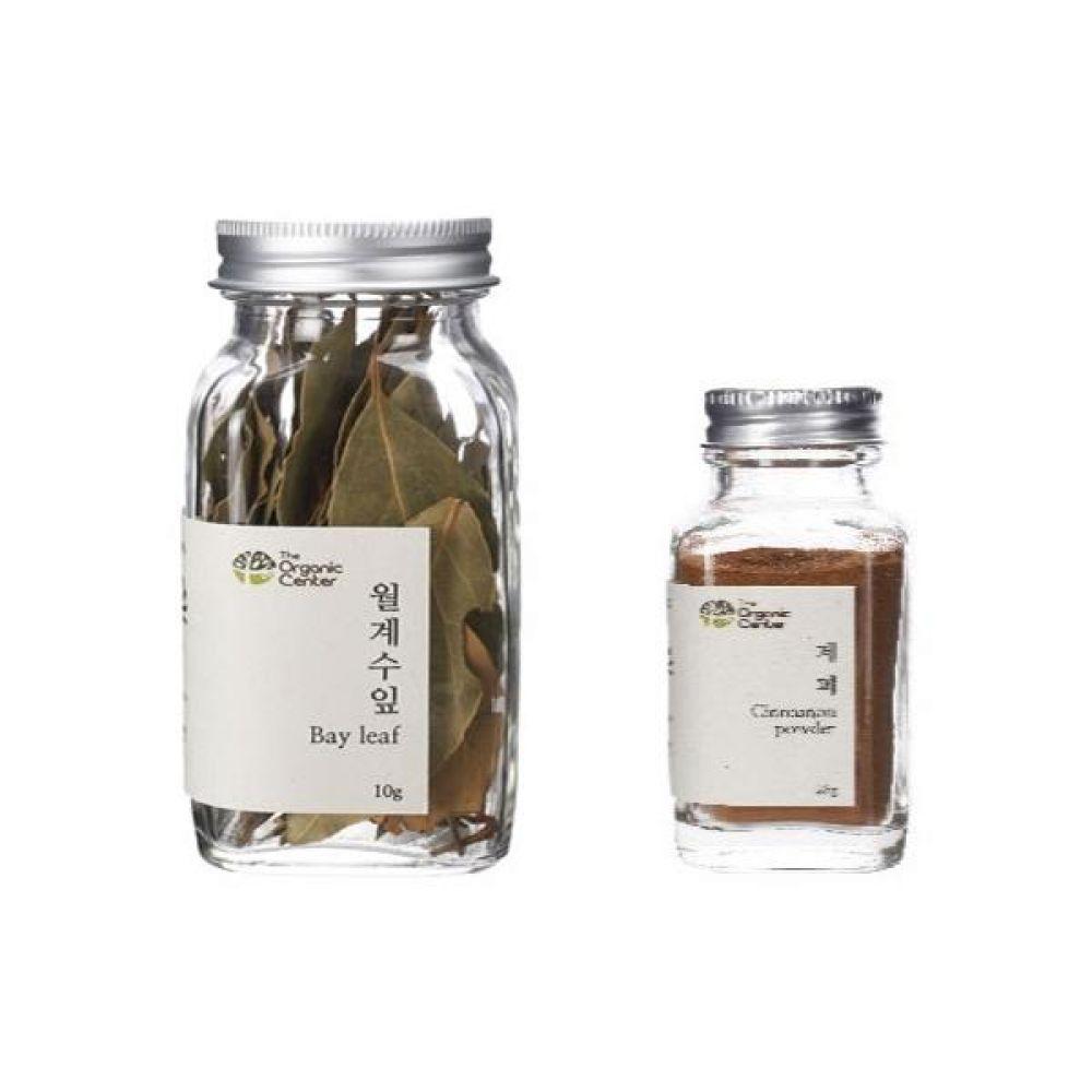 (오가닉 향신료 모음)월계수잎 10g과 계피파우더 25g 건강 견과 조미료 냄새 고기
