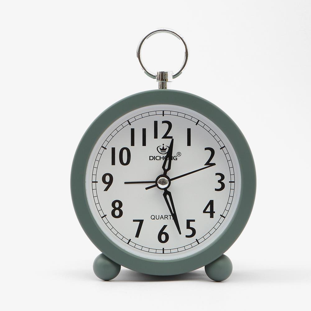 원형 무소음 고리 탁상시계 알람시계 알람용시계 알람시계 책상시계 생활용품 자명종시계 탁상용시계
